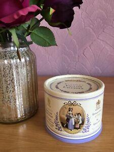 New Yardley English Lavender Vintage Tub Talc Dusting Powder 100g