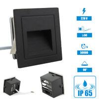 LED Parete Faretto Lampada per Gradini Luce Scale Illuminazione Nero 230V IP65