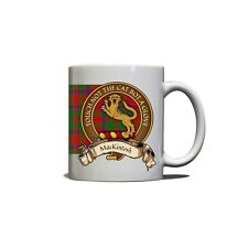 MacKintosh Scottish Clan Mug Crest Motto Tartan 11oz Ceramic Coffee Tea Mug