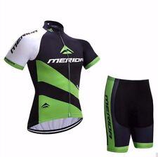 2020 Merida Green Cycling Set Bike Jersey Shirt and Shorts Padded Kit S-5XL