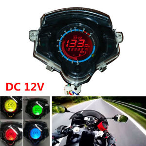 14000RPM Motorcycle LCD Digital Odometer Speedometer Tachometer Fit for Kawasaki