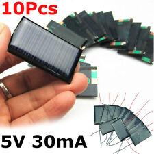 10Pcs/Lot Mini 5V 30mA 53X30mm Micro Small Power Solar Cells Panel For DIY Toy
