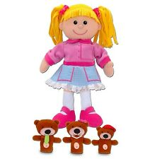 Fiesta Crafts Goldilocks Hand Puppet With 3 Finger Puppets Kids Stories Gift Set