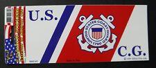 USCG Coast Guard Bumper Sticker made in the USA 6.5 x 3 inches