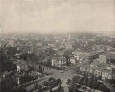 Sacramento from the dome of the Capitol. California 1895 old antique print