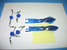 12   LUHR JENSEN    BLUE   B-2  SQUID WITH SCENT BALLS  FISHING LURES   SIZE  5