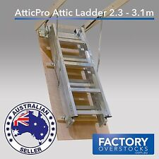 AtticPro High Quality Aluminium Folding Loft Attic Ladder Ceiling 2.3m - 3.1m