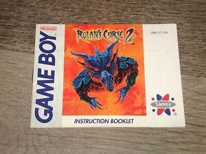 Rolan's Curse 2 Instruction Manual Booklet Nintendo Game Boy Authentic