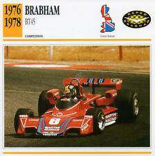 1976-1978 BRABHAM BT45 Racing Classic Car Photo/Info Maxi Card