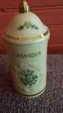 Lenox Spice Garden Fine Porcelain Lidded Container Jar Coriander Retired 1992