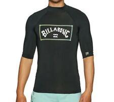 BILLABONG MENS RASH TOP.UNITY UPF50+ SUN PROTECTION BLACK VEST GUARD T SHIRT W21