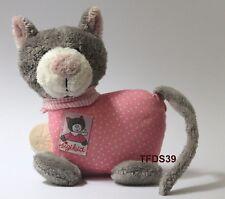 """Sigikid Katze rosa grau Spieluhr """"Schlaf, Kindlein schlaf"""""""