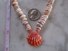 Puka Shells 100% natural Hawaiian Pukas/Color Pukas/ Beautiful Lava Red Sunrise