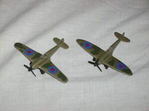 2 Die Cast Model Planes Spitfire Etc