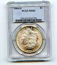 1904-O PCGS MS62 MORGAN SILVER DOLLAR COIN!!..STARTS@ 2.99