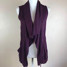 Mi Ami Small Womens Purple Sleeveless Vest Tie Waist