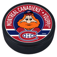 """Montreal Canadiens Youppi! Mascot 3D Textured """"Raised Letters"""" Hockey Puck - NEW"""