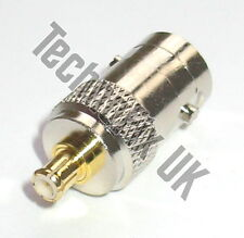 BNC female to MCX male adapter (BNC F to MCX M) - fits RTL-SDR dongle