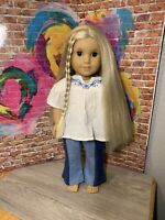 "American Girl Julie Albright 18"" Doll In Historical Meet Outfit"