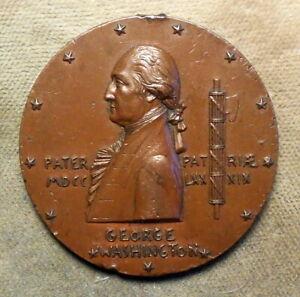 George Washington: GW-1136, St. Gaudens Inaugural Centennial. Bronze 1889