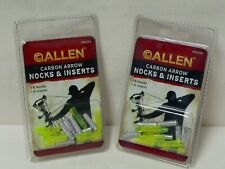 Allen Archer Carbon Arrow Nocks & Inserts Light Green Lot Of 2