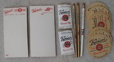 Old Kaier's Beer Items 2 Note Pads 3 Pencils 10 Coasters 2 Can Rain Hats PA Lot