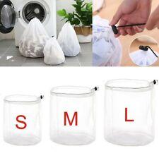 Reusable Drawstring Laundry Wash Net Bag Wash Mesh Bra Underwear 3 Sizes