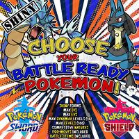 Pokemon Sword and Shield ⚔️ CHOOSE 'ANY 4' SHINY BATTLE READY POKEMON! 6IV! 🛡️