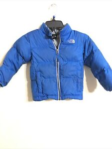 The North Face 550 Down Puffer Jacket Boys 4T Blue