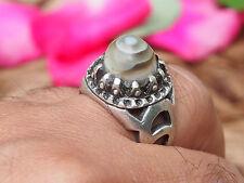 antik orient silber Augen-Achat statement ring Eye-Agate Afghanistan Nr:17/467