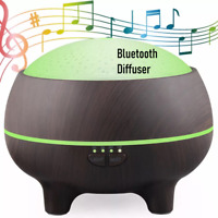 Aromatherapy Essential Oil Diffuser w Blue Tooth-Ultrasonic Cool Humidifier