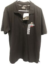 Guinness Ireland Polo Shirt Embroidered Logo Mens Black Short Sleeve Large New