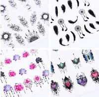 24 Sheets Dream Catcher Moon Water Decals Lot Nail Art Transfer Stickers Random
