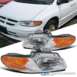 For 96-00 Caravan Town & Country Voyager Headlights Turn Signal Lamps Left+Right
