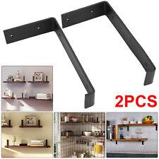 2pcs Rustic Shelf Brackets Scaffold Board Industrial Solid Steel Heavy Duty UK