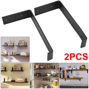 2pcs Rustic Shelf Brackets Scaffold Board Industrial Solid Steel Heavy Duty UK