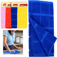4 X Microfiber Kitchen Towel Cleaning Counter Cloth Dish Drying Rag Wet Dry