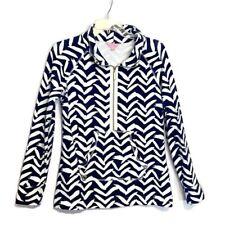 Lilly Pulitzer Size Small Skipper Sweatshirt 33261 Popover Zipper Pocket