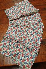 """Vintage Mid Century Floral Small Cafe Curtain Panel Valance 23"""" x 13"""""""