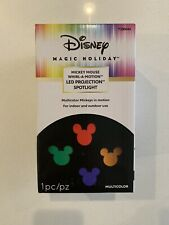 Disney Magic Holiday Mickey Mouse Whirl a Motion LED Projection Spotlight New
