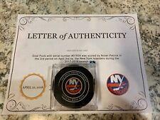 GAME USED SCORED GOAL Puck NOLAN PATRICK 13th Career Philadelphia Flyers ROOKIE