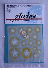 Archer 1/35 M2 / M3 Halft-rack Yellow/White Stars (builds 3 vehicles) AR35224