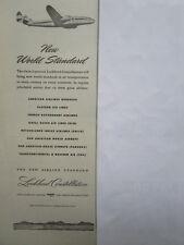 2/1946 PUB LOCKHEED CONSTELLATION AIRLINER AIRLINES EASTERN KLM PAN AM TWA AD