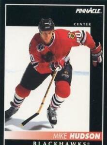 #134 Mike Hudson - Chicago Blackhawks - 1992-93 Pinnacle Canadian Hockey