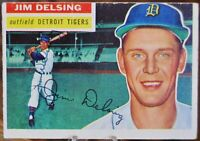 1956 Topps Baseball Card #338 Jim Delsing, Detroit Tigers - VG