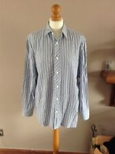 john rocha shirt striped long sleeves size medium 100% cotton used