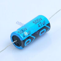 2pcs Axial Electrolytic Capacitor 47uf 500V for Tube Amp DIY
