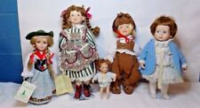LOT OF FIVE PORCELAIN DOLLS - HOUSE OF LLOYD - MBI - SCHNEIDER + MORE