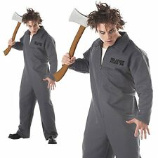 Axe Murderer Mental Patient Horror Boiler Jumpsuit Halloween Mens Fancy Costume
