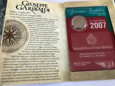 REPUBBLICA DI SAN MARINO - 2007 2 EURO COMMEMORATIVI GIUSEPPE GARIBALDI FDC